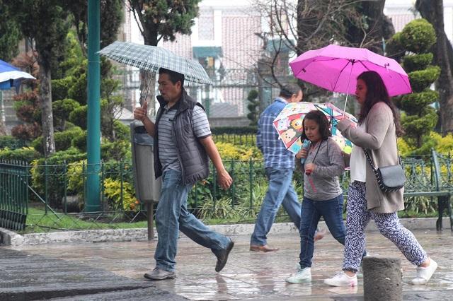 Anuncian aumento de lluvias en la entidad poblana