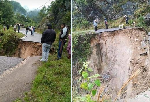 Lluvias dejan deslaves, colapso de camino y daños en casas de Puebla
