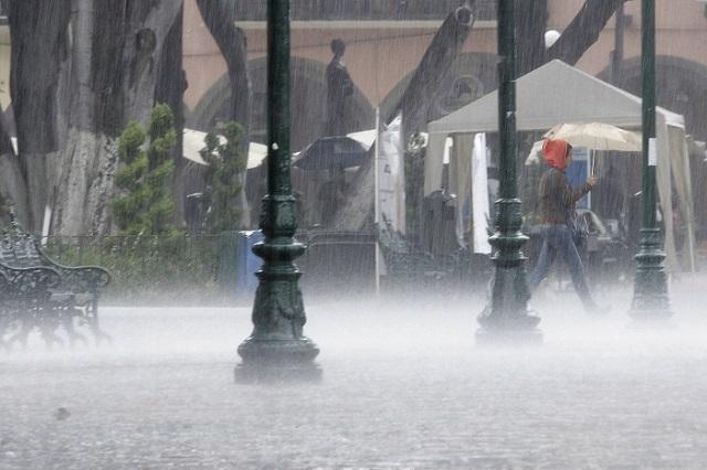 Pronostican lluvias muy fuertes para este domingo en Puebla
