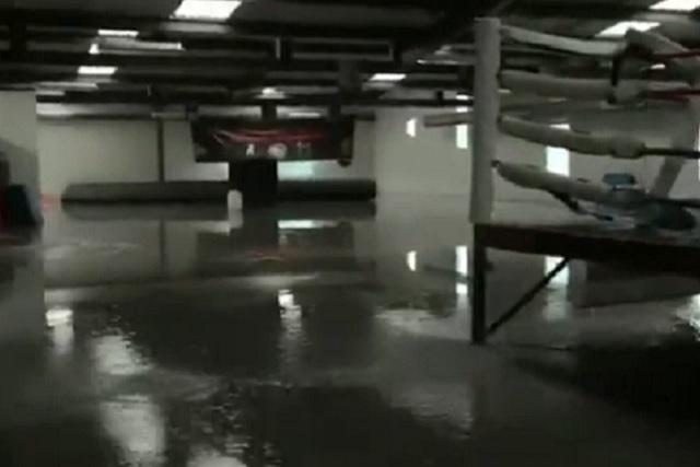 Lluvias colapsan millonario polideportivo de Moreno Valle