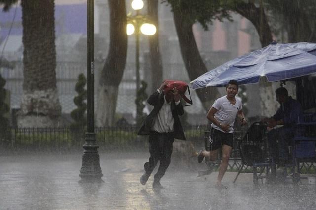 Pronostican lluvias muy fuertes para Puebla este sábado
