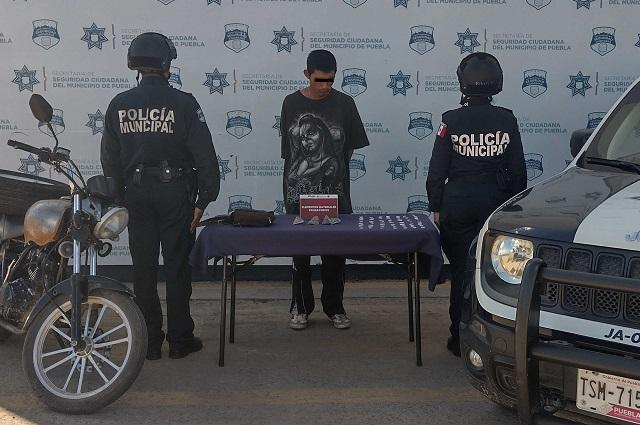 Lo atrapan con dosis de drogas en Loma Bonita Caleras