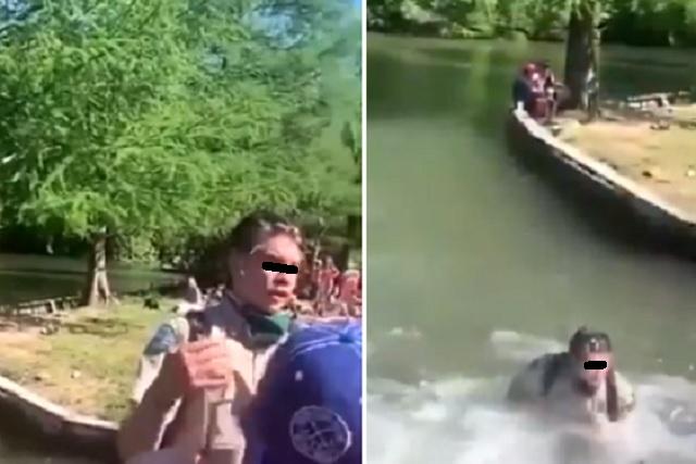 Avientan a empleado a un lago por pedir 'sana distancia'