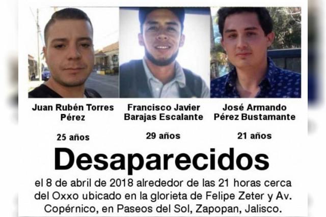 Encuentran a 3 jóvenes que estaban reportados desparecidos en Jalisco
