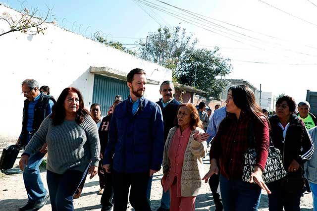Inician obras de pavimentación en vialidades en Loma Linda