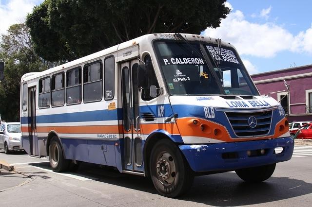 Vuelve tensión por demanda de alza al transporte en Puebla