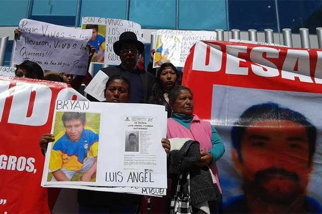 Ubicar a desaparecidos de Lomas de San Miguel, urgen a la FGE