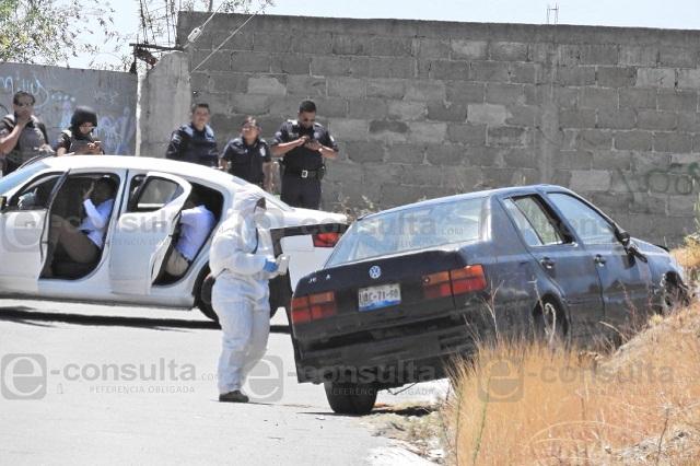 Acribillan a un hombre y dejan herido a otro, al sur de Puebla