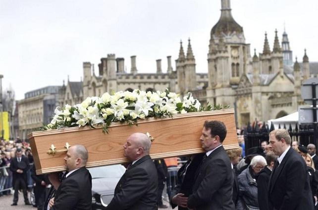 El conmovedor funeral de Stephen Hawking