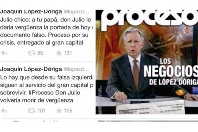Proceso, en crisis y entregado al gran capital, revira López Dóriga