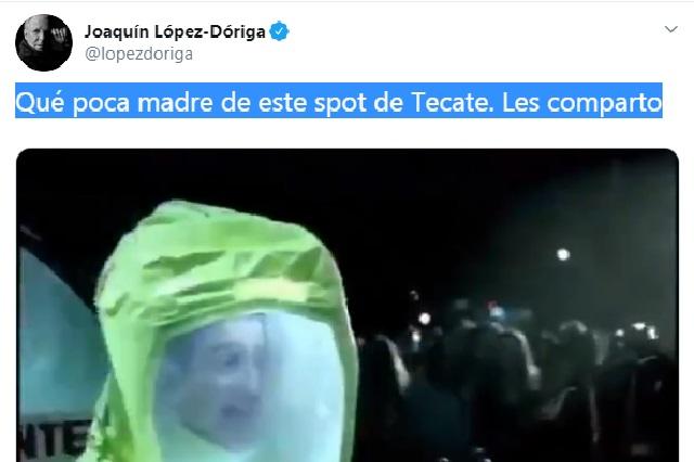 Coronavirus: Se burlan de López Dóriga por criticar spot de Tecate de hace años