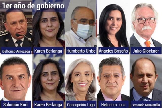 Cambia Barbosa de secretarios cada 36 días en su primer año