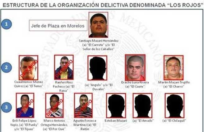 Capturan en la CDMX a un primo del líder de Los Rojos