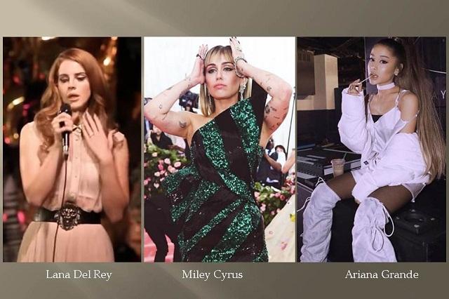Ariana Grande, Miley Cyrus y Lana Del Rey, un gran equipo