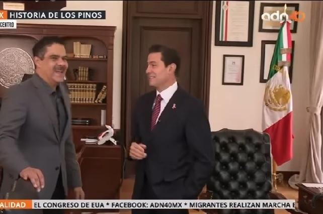 Así se veían Los Pinos en últimos días de EPN como presidente