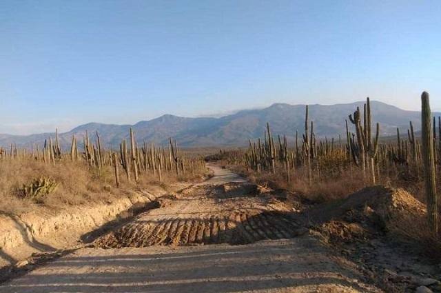 Pobladores de Zapotitlán bloquean camino a Los Reyes Metzontla