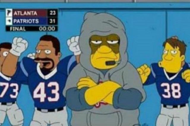 Los Simpson predijeron victoria de Nueva Inglaterra sobre Atlanta en SB