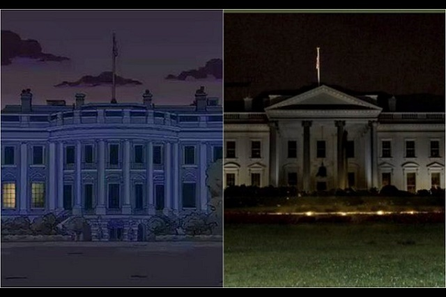 Video: Los Simpson habrían predicho el apagón de luces en La Casa Blanca