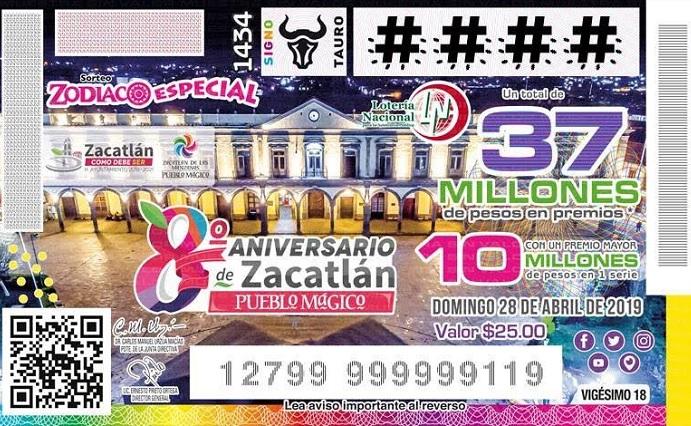 Zacatlán, presente en el sorteo de la Lotería Nacional