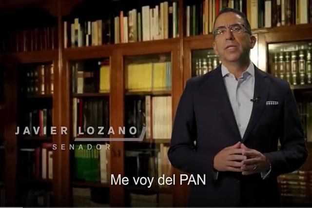 Me voy del PAN, anuncia Lozano y acusa a Anaya de dictador