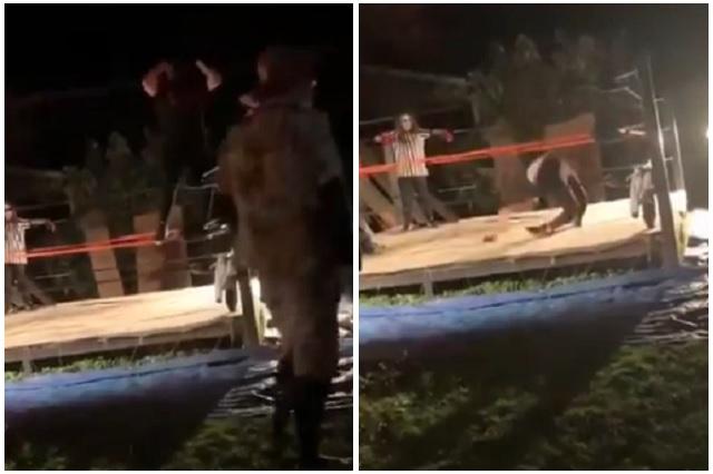 Luchador se fractura las rodillas durante salto de rutina
