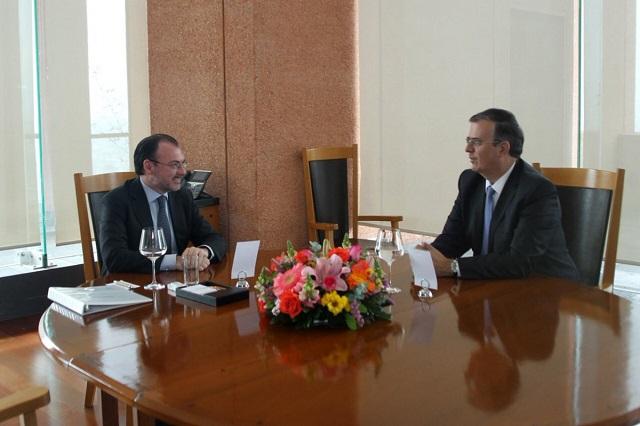 Se reúnen Videgaray y Ebrard para coordinar transición en la SRE