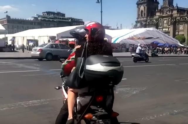 Motociclista de Luisa María Alcalde podría pagar multa de mil 700 pesos
