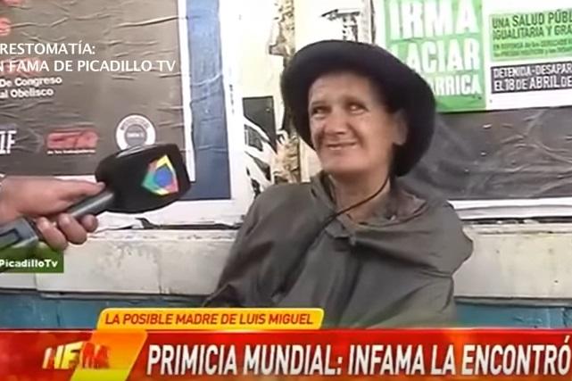 Revelan si mujer que vive en la calle es la madre de Luis Miguel