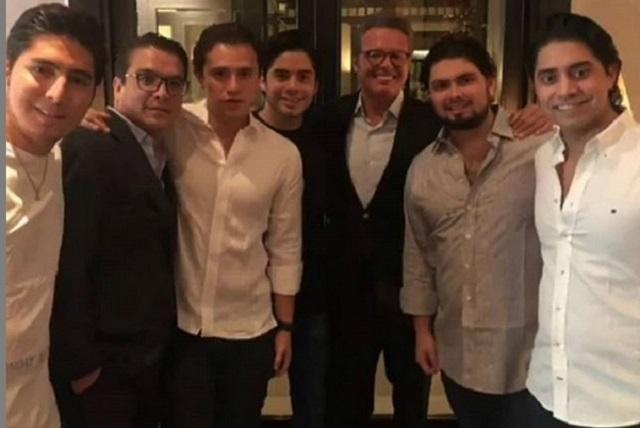 Gerardo Islas aparece con Luis Miguel en festejo de hijo de EPN