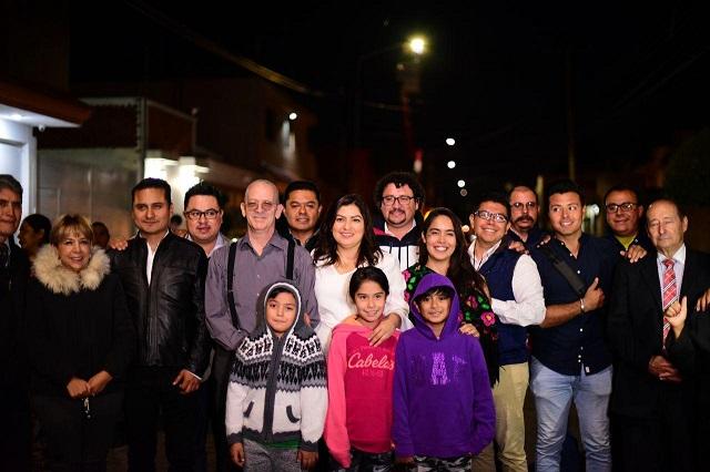 Gobierno de la capital renueva luminarias en San José Mayorazgo