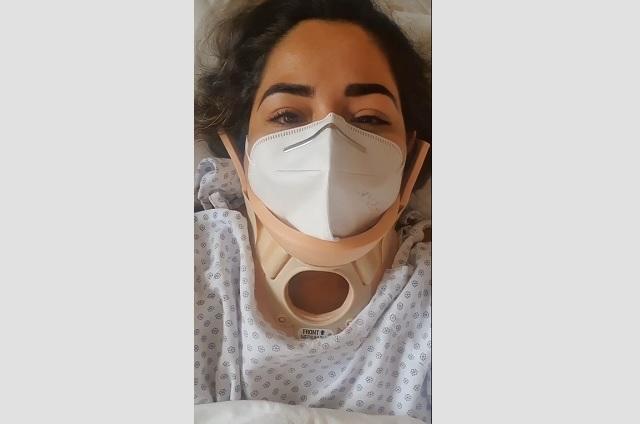 Lupita Vargas se recupera tras sufrir accidente automovilístico