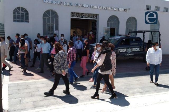 Realizan macrosimulacro en edificios públicos de Tehuacán