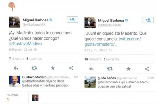 Madero llama pendejo a Miguel Barbosa por impuesto a refresqueras