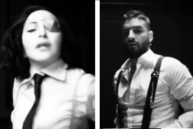 Madonna revela imágenes de su videoclip con Maluma