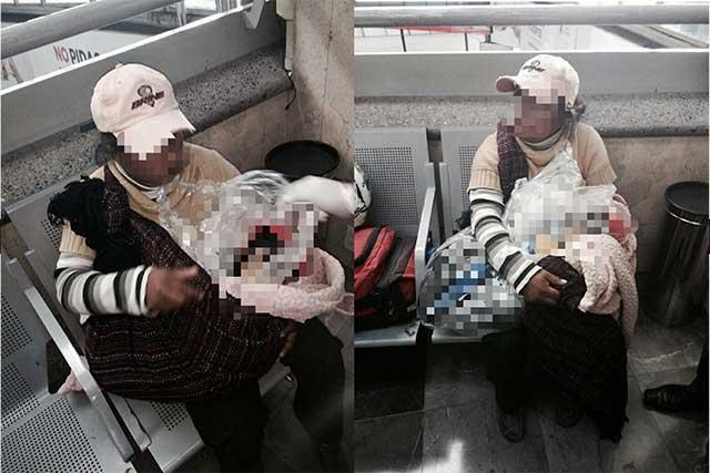 Madre intenta viajar en autobús con el cadáver de su hijo