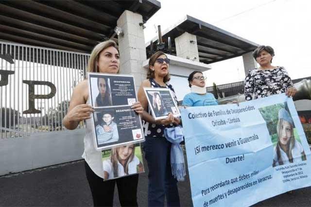 Ni perdón ni olvido, le gritan madres de desparecidos a Javier Duarte