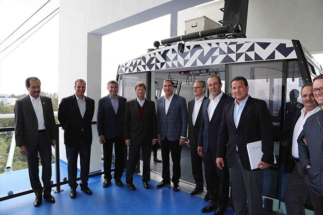Enrique de la Madrid y Moreno Valle inauguraron el Teleférico