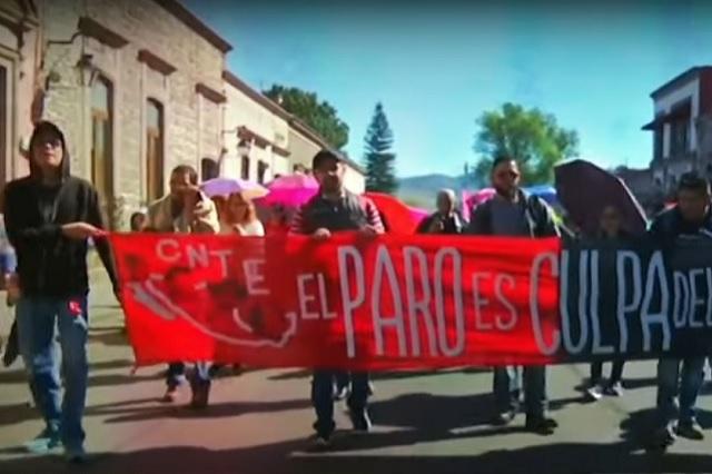 CNTE amenaza con radicalizar sus protestas en Michoacán