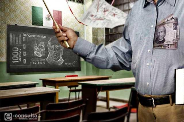 Maestros en municipios pobres ganan casi 30% menos en Puebla