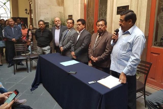 Ofrecen sindicatos magisteriales respaldo a Armenta