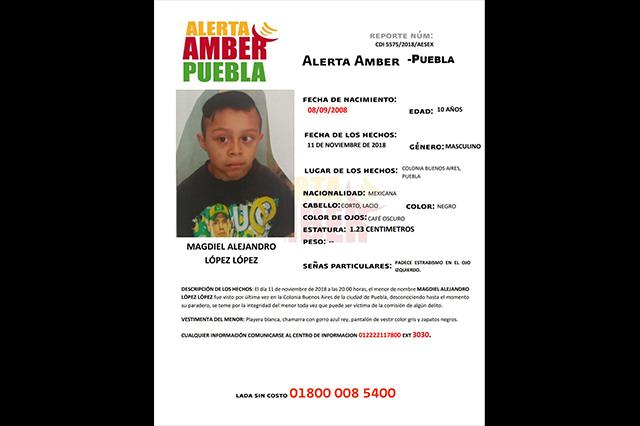 Activan Alerta Amber para localizar a niño de 10 años