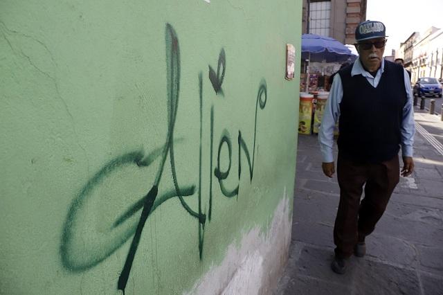 Cuestan daños por vandalismo y grafitis casi 6 mp diarios a Puebla