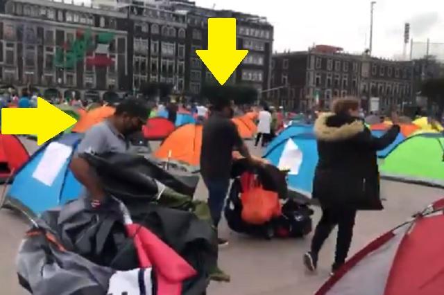 Captan a manifestantes de FRENAA con supuestos guardaespaldas y maleteros