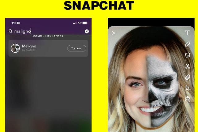 Maligno llega a Snapchat y te puedes ver de terror