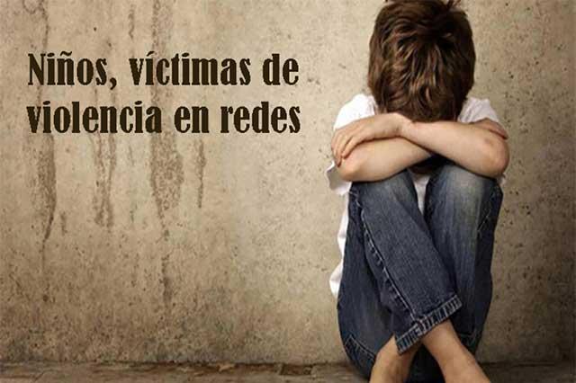Niños, víctimas de maltrato en redes sociales