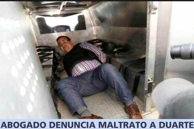 Guardias maltratan a Javier Duarte y le quitan la comida