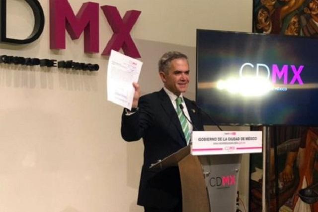 Mancera renuncia y deja el gobierno de la CDMX a José Ramón Amieva