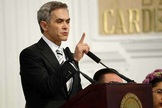 Si no hay transparencia en el Frente, Mancera seguirá en el gobierno de la CDMX