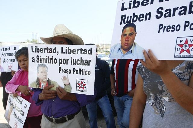Amañan careo con líder de la 28 de Octubre, denuncia abogado