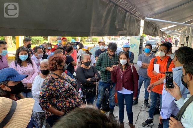 Denuncian vecinos abandono de obras del Agua de Puebla